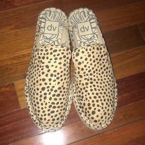 Cheetah backless espadrilles